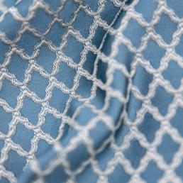 Draperie Jaquard, imprimeu Oriental, albastru