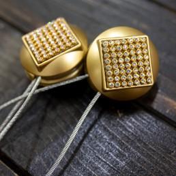 Magnet decorativ rotund, auriu mat