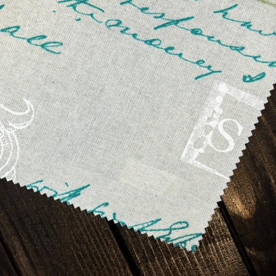 "Draperie ""Happy Home"", Letter, verde"